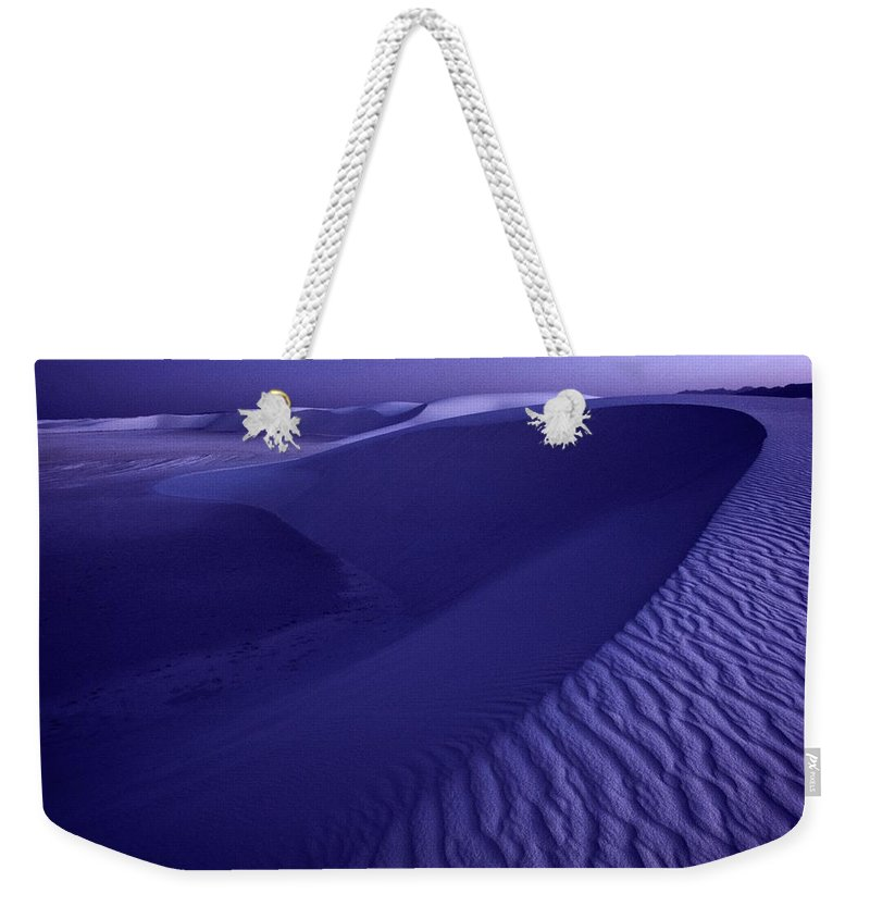 sand Weekender Tote Bag featuring the photograph Sand Dunes. These Dunes Form When Solid by Michael Nichols