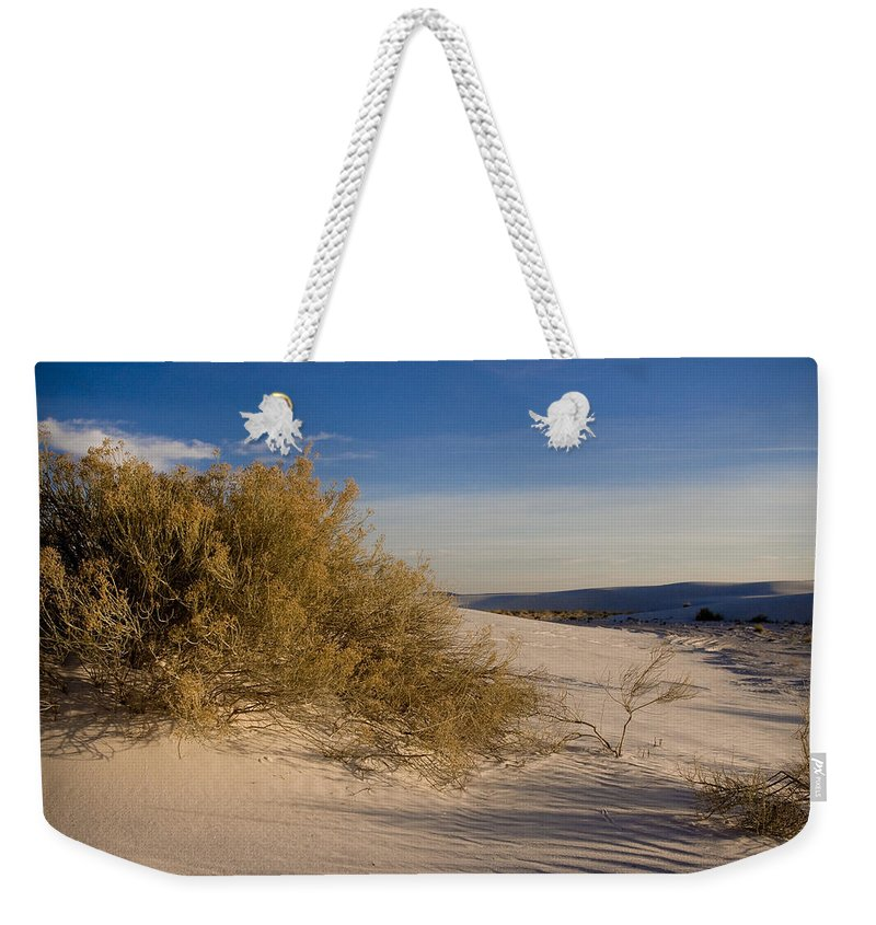 New Mexico Weekender Tote Bag featuring the photograph Sand Shrub 1 by Sean Wray