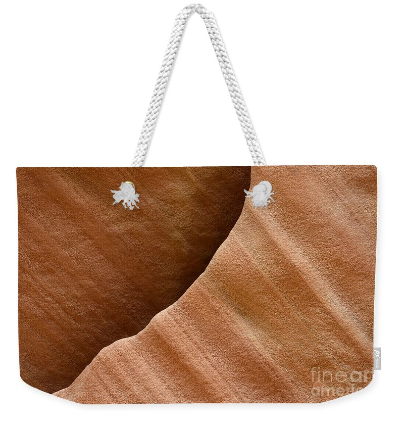 Beauty Of Sandstone Weekender Tote Bag featuring the photograph Sandstone Detail by Bob Christopher