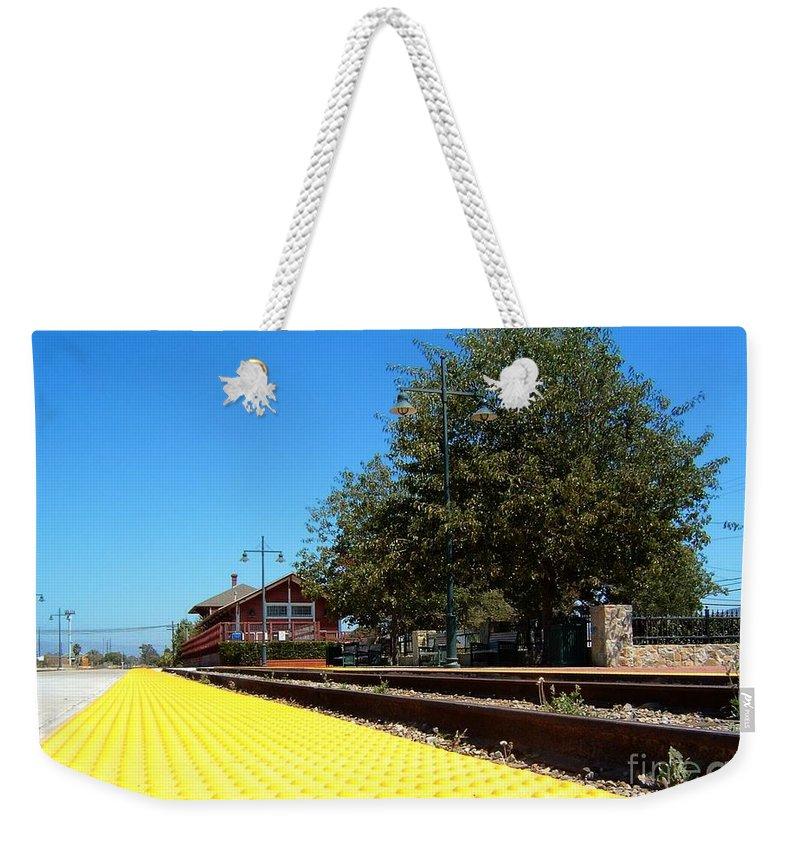 santa Paula Weekender Tote Bag featuring the photograph Santa Paula Train Station by Henrik Lehnerer