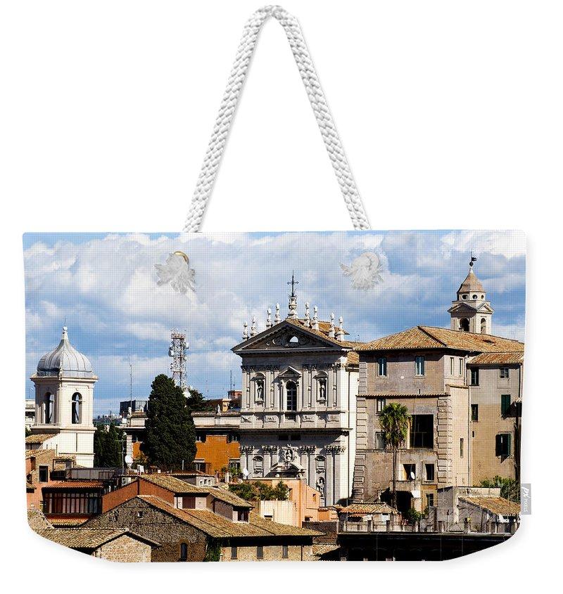 Rome Weekender Tote Bag featuring the photograph Santi Domenico E Sisto by Fabrizio Troiani