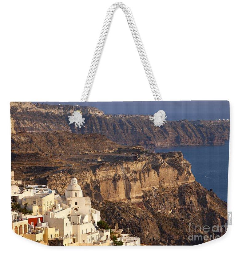 Santorini Weekender Tote Bag featuring the photograph Santorini by Brian Jannsen