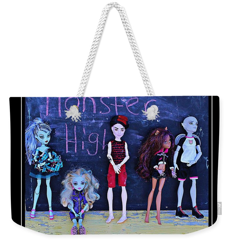 Monster High Weekender Tote Bag featuring the digital art Sarah's Monster High Collection by Barbara Griffin