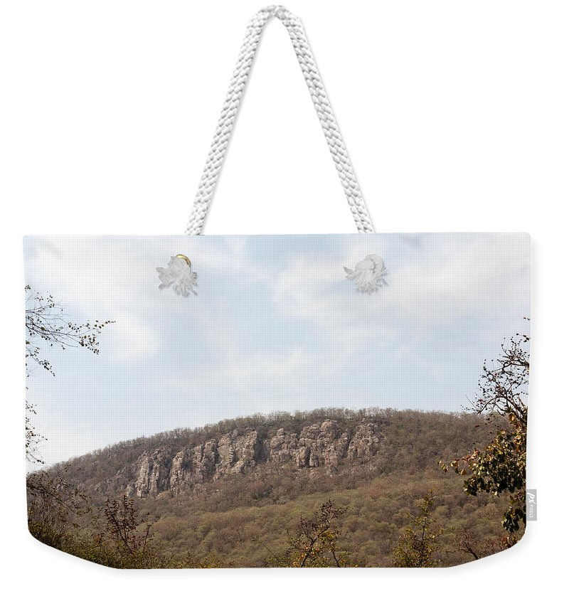 Hill Weekender Tote Bag featuring the photograph Sariska Nature - A Weathered Hill by Ashish Agarwal