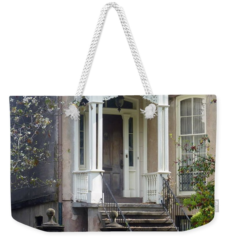 Savannah Weekender Tote Bag featuring the photograph Savannah Doorway by Carla Parris