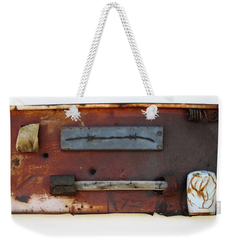 Assemblage Sculptures Weekender Tote Bag featuring the sculpture Savory Truffle by Snake Jagger