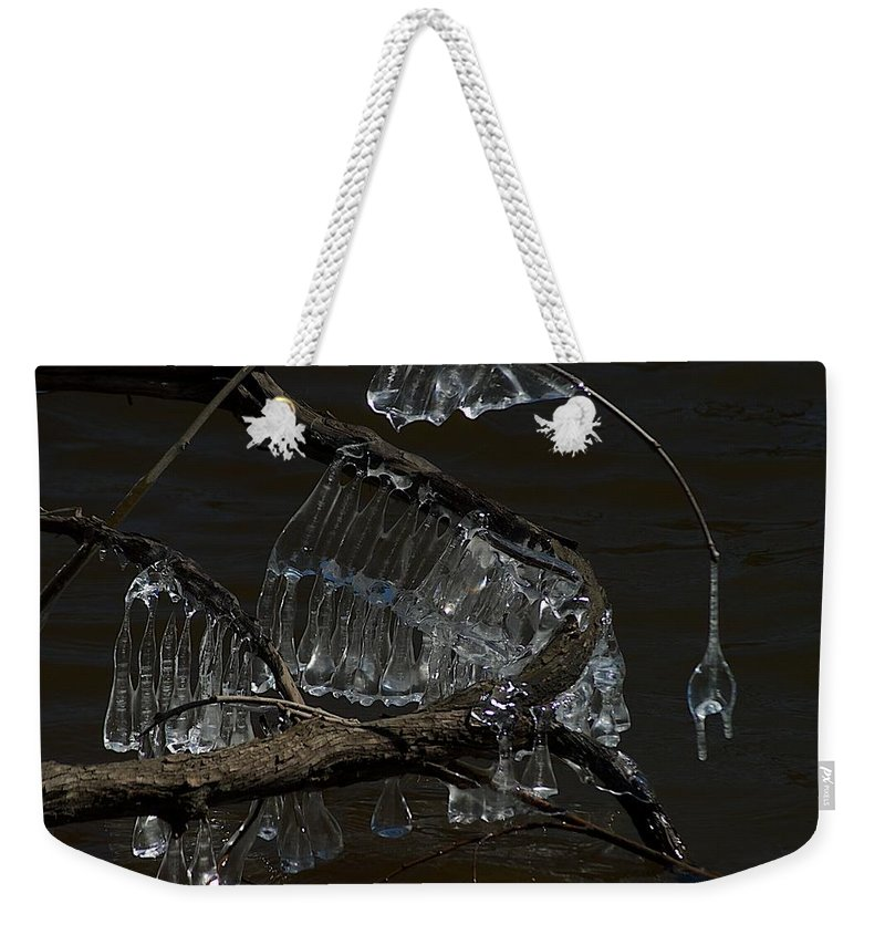 Ice Weekender Tote Bag featuring the photograph Scales by Joseph Yarbrough