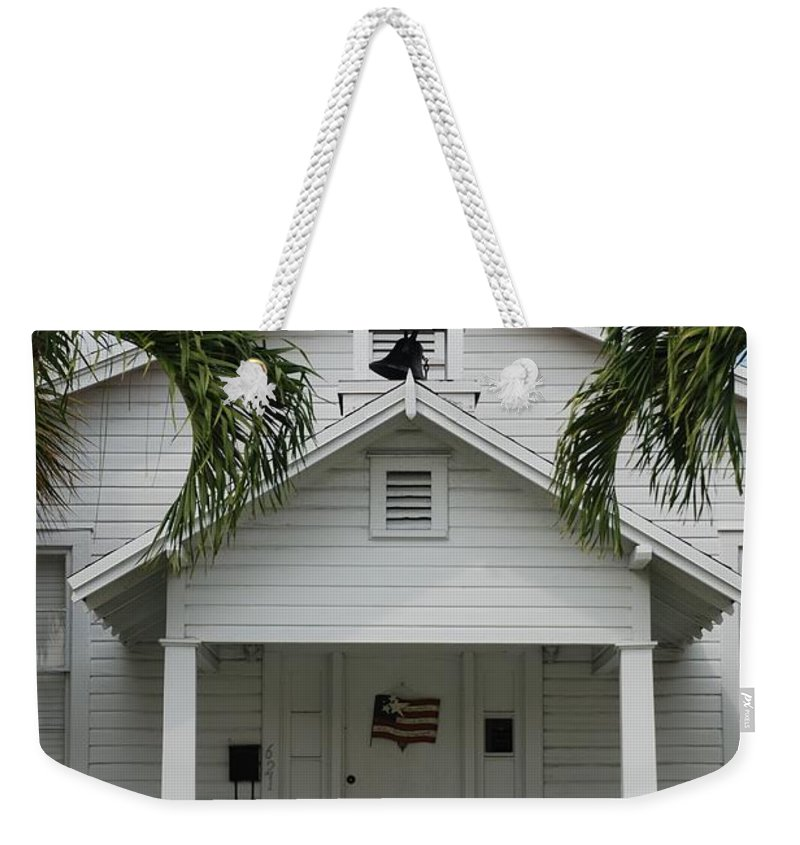 Architecture Weekender Tote Bag featuring the photograph School House by Rob Hans