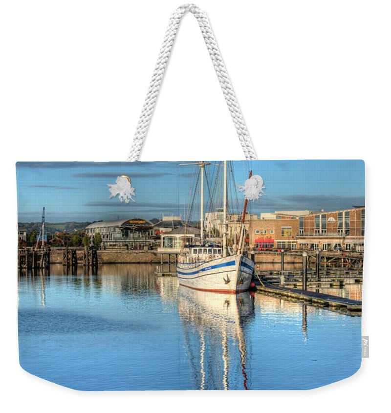 Next Wave Weekender Tote Bag featuring the photograph Schooner 4 by Steve Purnell