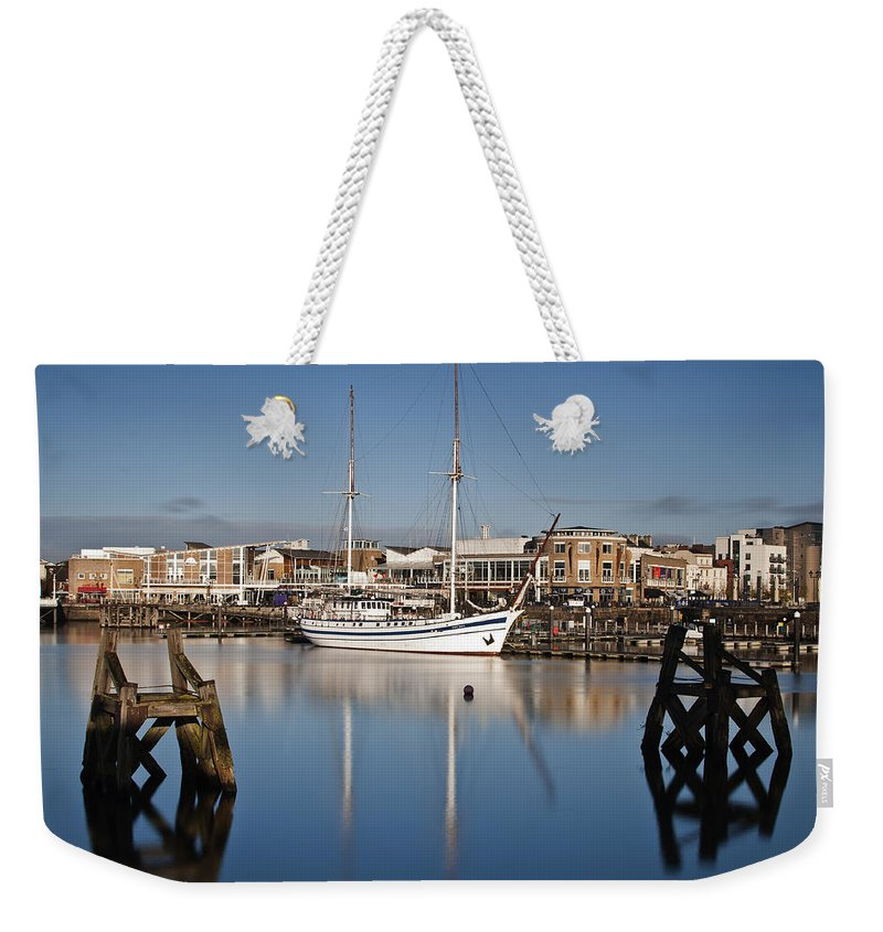 Next Wave Weekender Tote Bag featuring the photograph Schooner 7 by Steve Purnell