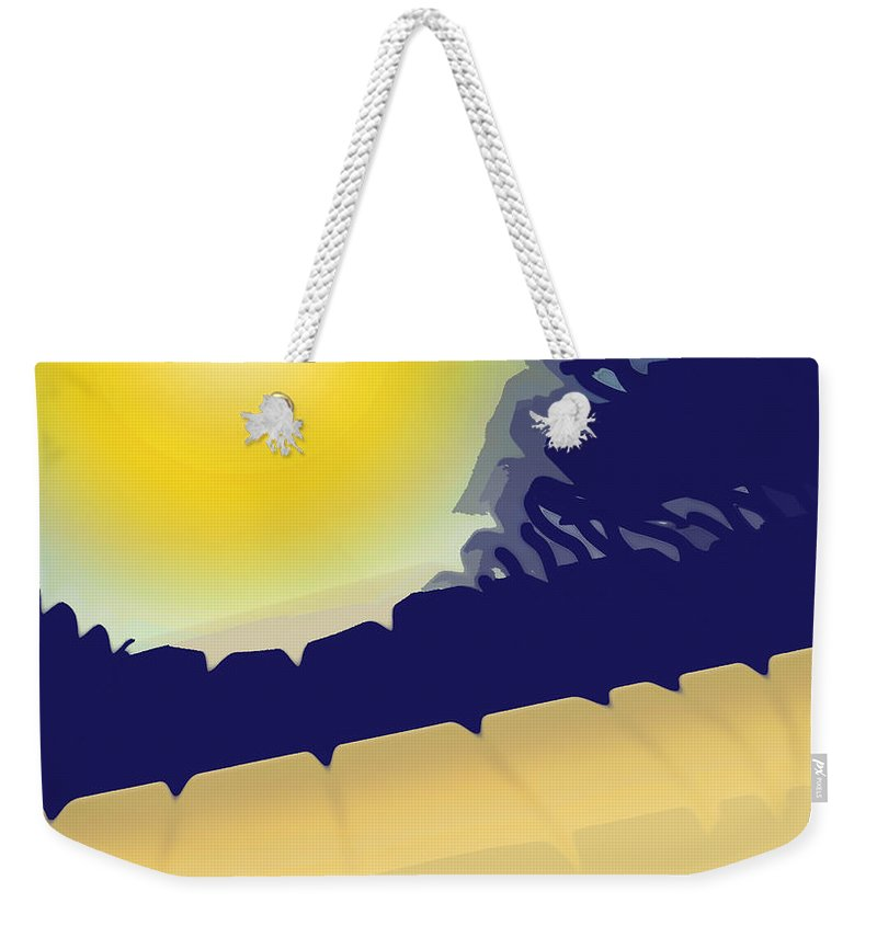 Abstract Weekender Tote Bag featuring the digital art Scorcher by Ian MacDonald