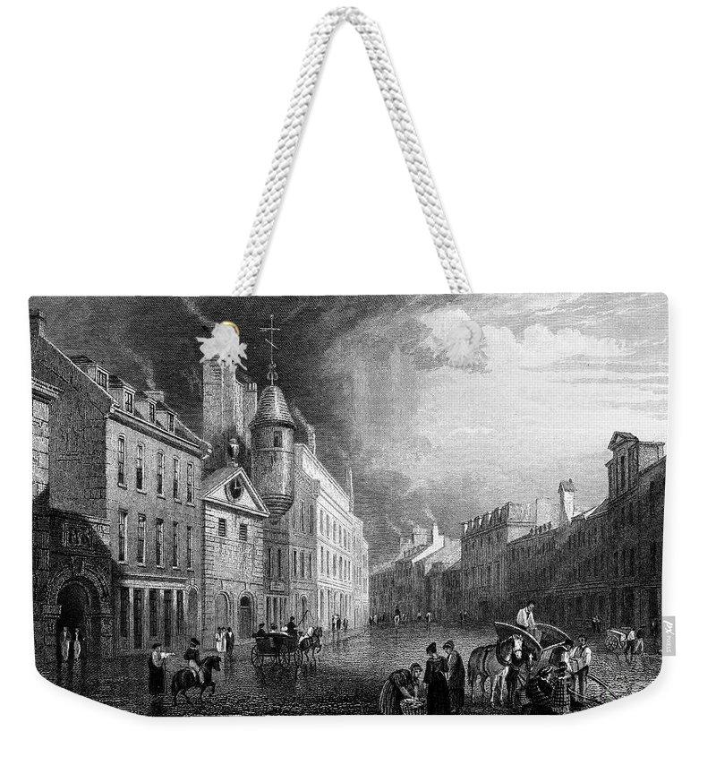 1833 Weekender Tote Bag featuring the photograph Scotland: Aberdeen, 1833 by Granger