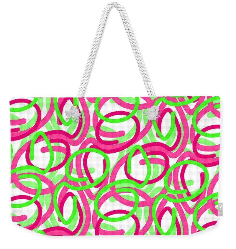 Louisa Weekender Tote Bag featuring the digital art Scroll by Louisa Knight