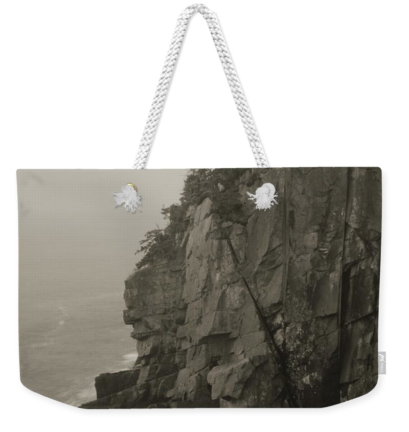 Cliff Weekender Tote Bag featuring the photograph Sea Cliff At Quoddy Head by Roupen Baker