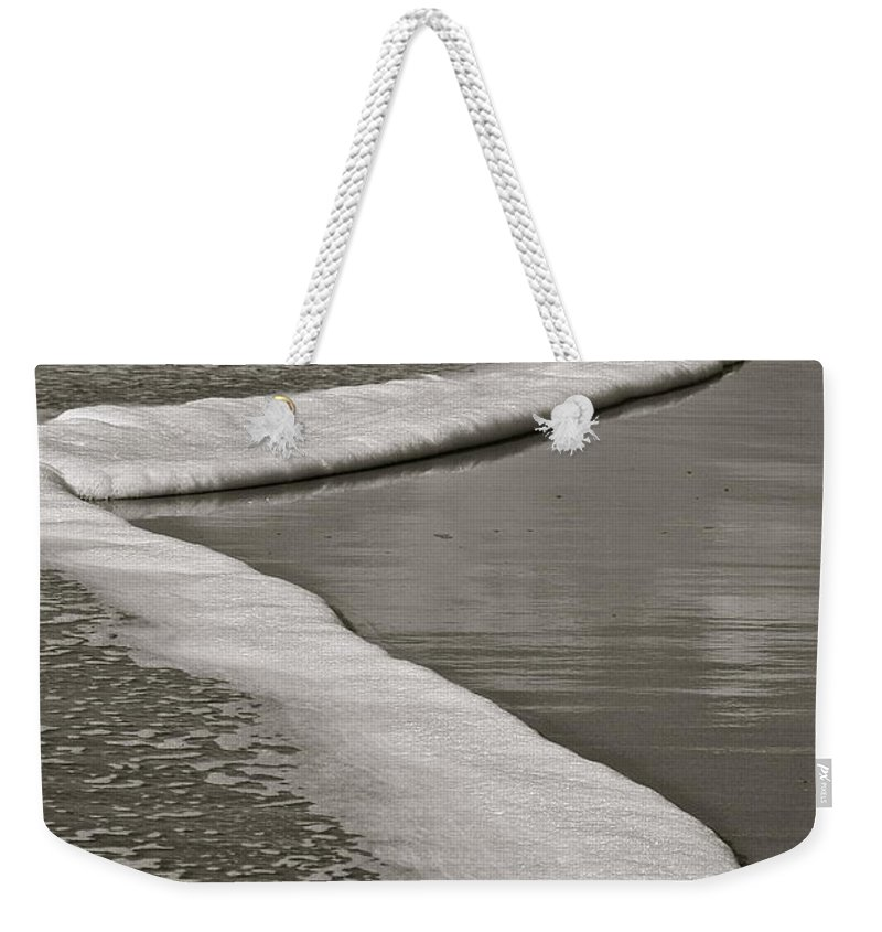 Sea Weekender Tote Bag featuring the photograph Sea Foam by Diana Hatcher
