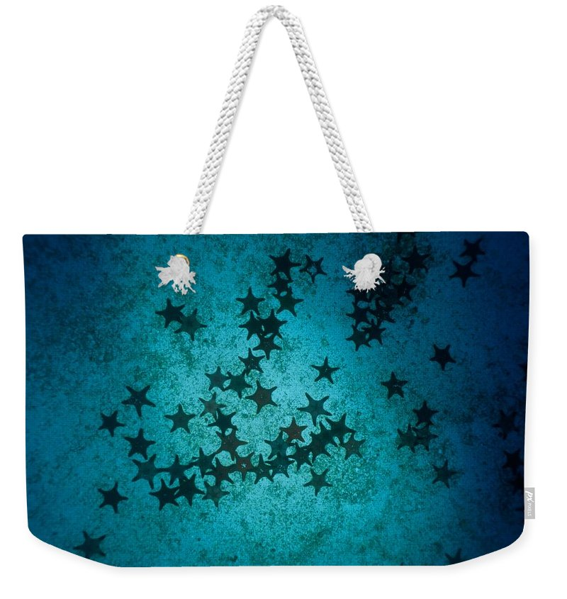 Underwater Weekender Tote Bag featuring the photograph Sea Stars At Gordon Rocks by Heather Perry