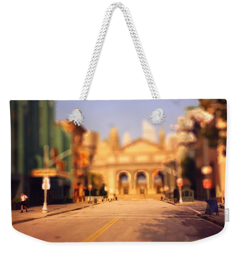Photo Weekender Tote Bag featuring the photograph Seaport Tiltshift by Ericamaxine Price