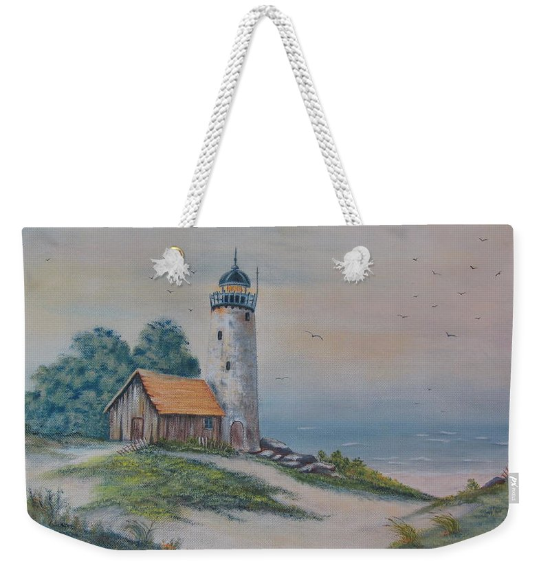 Seascape Weekender Tote Bag featuring the painting Seascape by Terry Boulerice