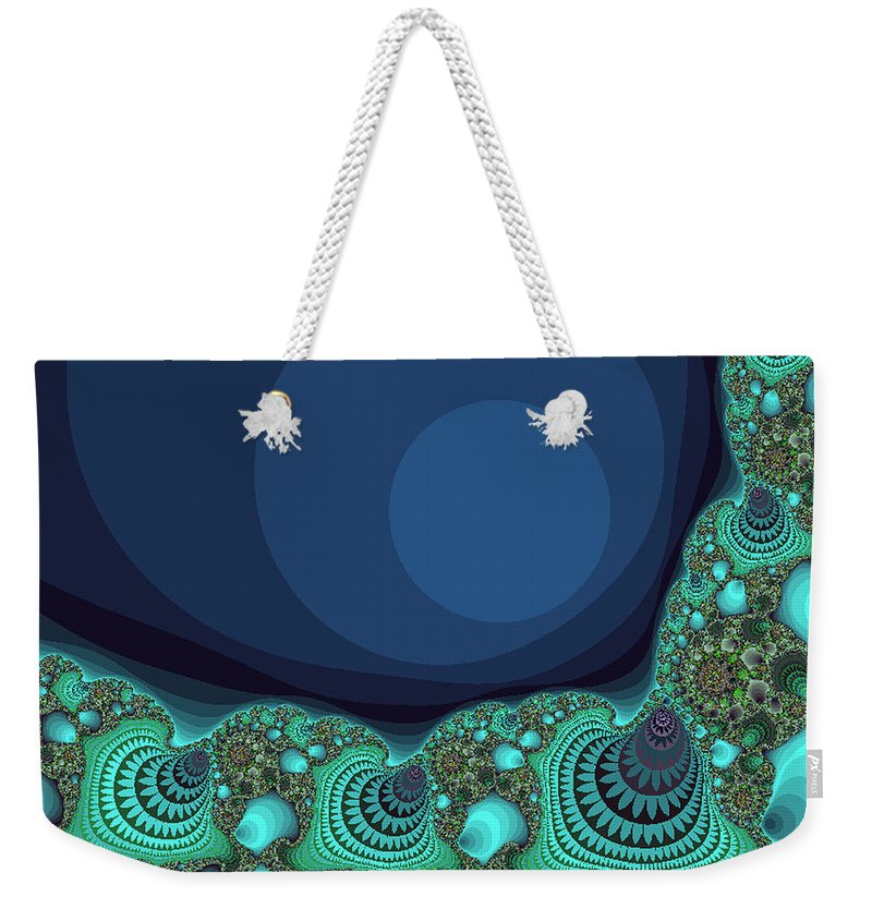 Fractal Weekender Tote Bag featuring the photograph Seashells By The Sea Fractal by Mother Nature