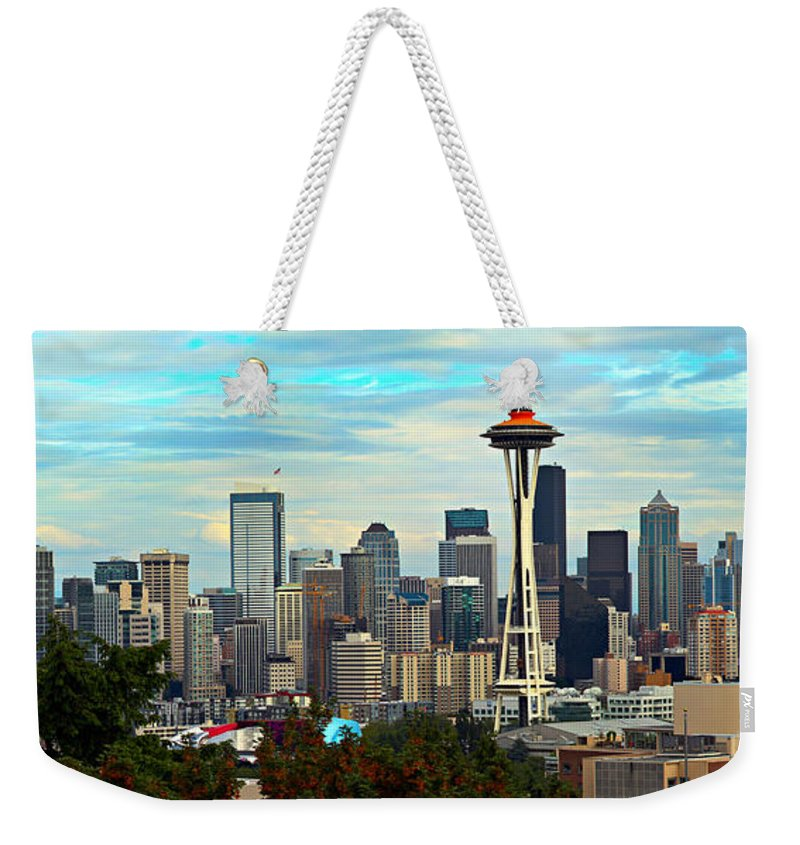 America Weekender Tote Bag featuring the photograph Seattle by Paul Fell