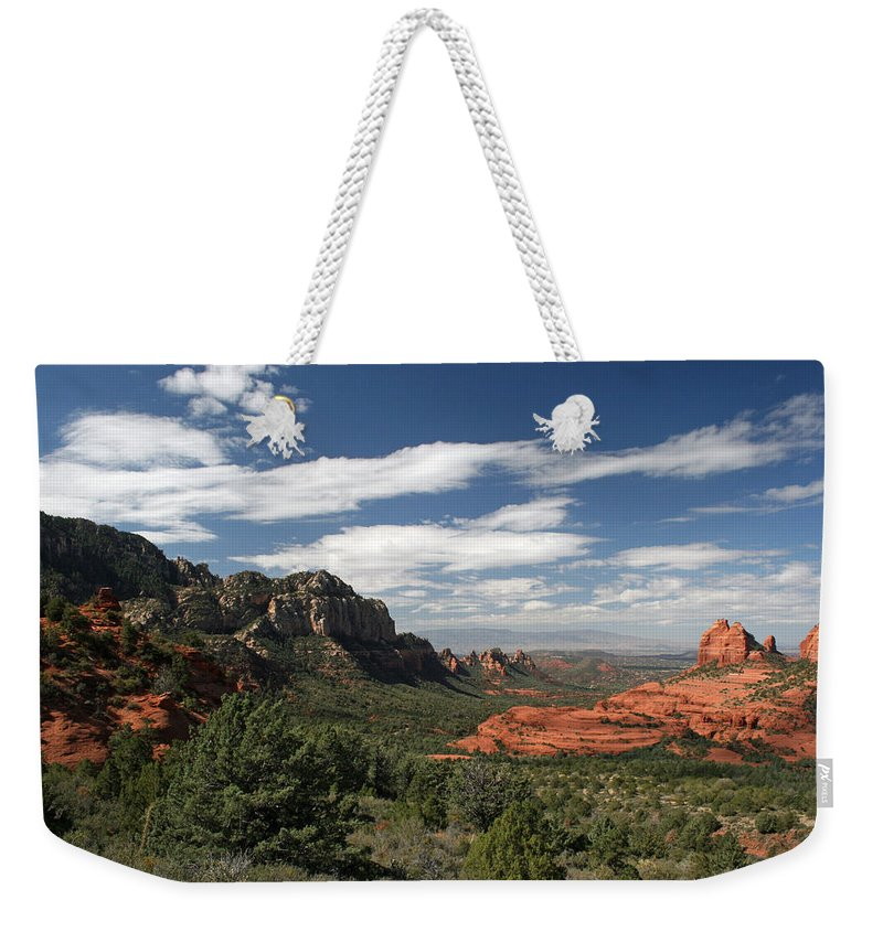 Sedona Weekender Tote Bag featuring the photograph Sedona Arizona Vista by Elizabeth Rose