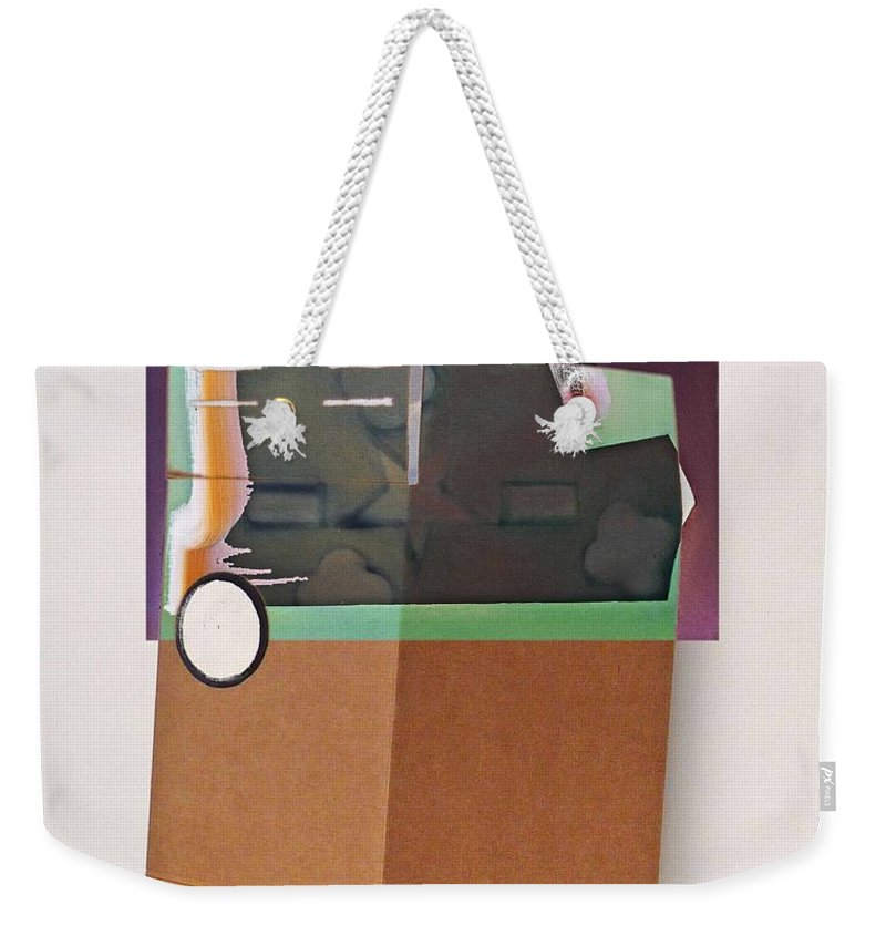Box Weekender Tote Bag featuring the painting Seismic by Charles Stuart