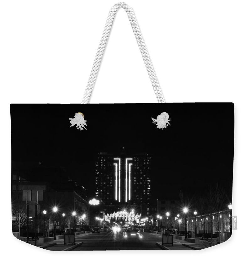 Weekender Tote Bag featuring the photograph Seneca Niagara Casino by Michael Frank Jr