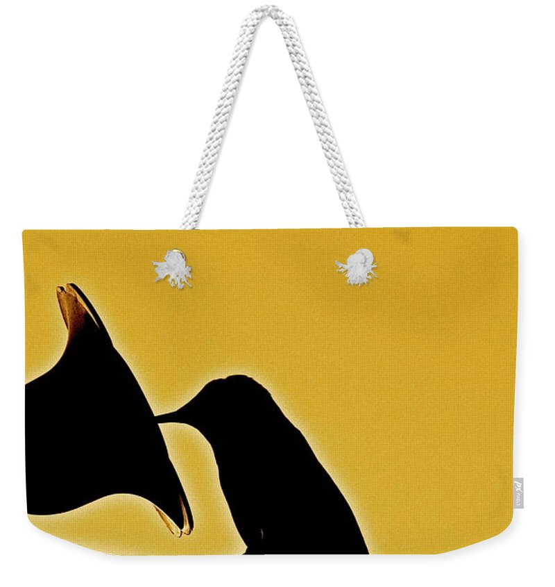 Birds Weekender Tote Bag featuring the photograph Sepia Silhouette by Diana Hatcher