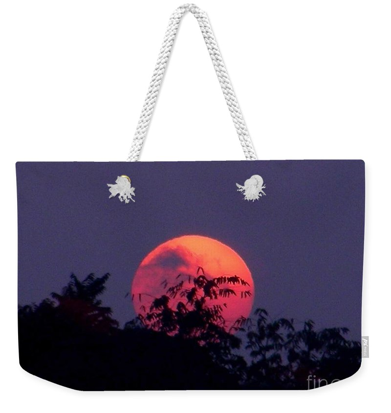 Sunset Weekender Tote Bag featuring the photograph September 22 2007 by Mark Gilman