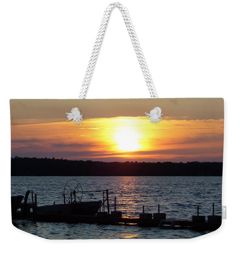 Sunset Weekender Tote Bag featuring the photograph Settling In by Shirley Radebach