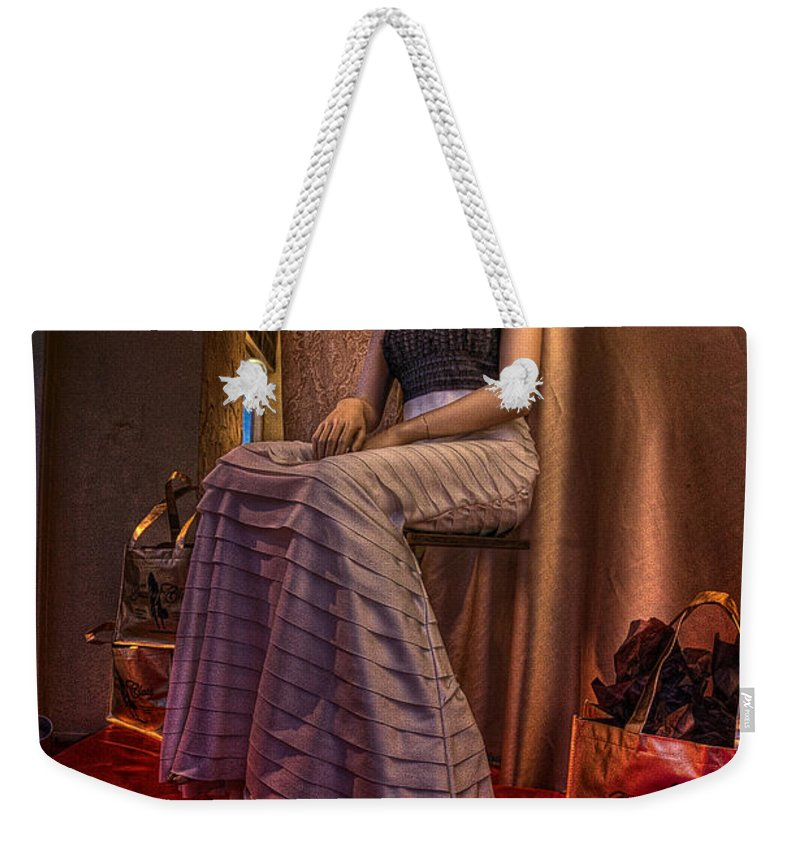 Acrylic Prints Weekender Tote Bag featuring the photograph Shabby Genteel Red by John Herzog