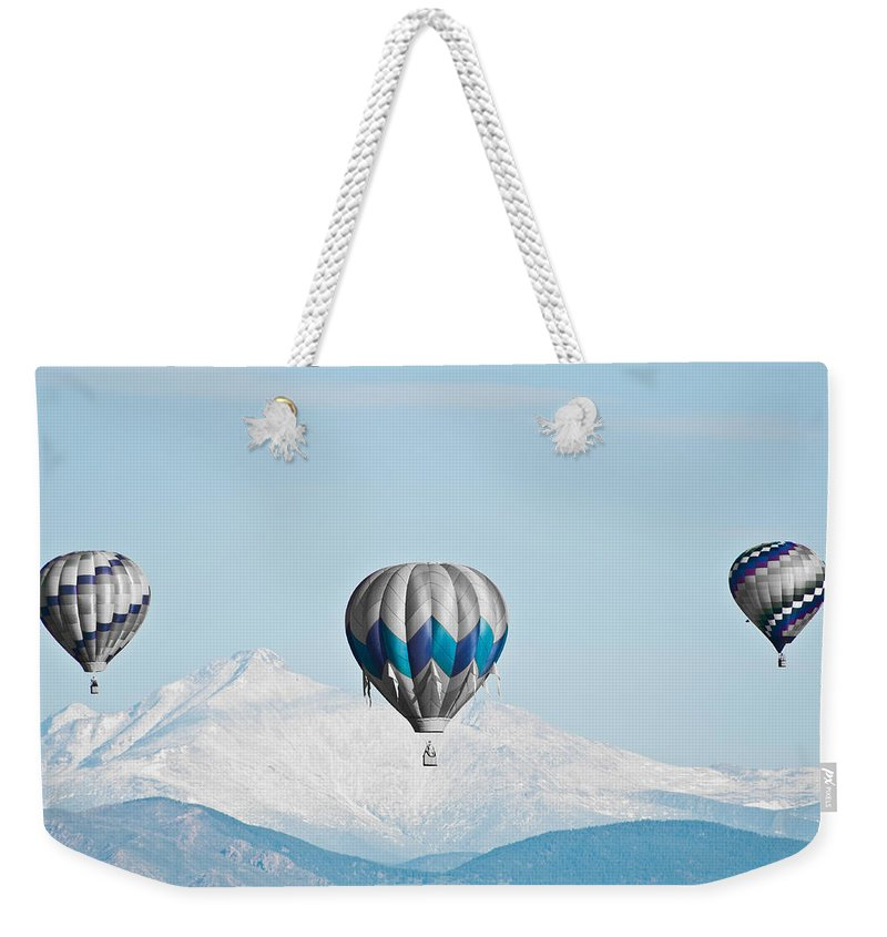 Hot Weekender Tote Bag featuring the photograph Shades Of Blue by Colleen Coccia