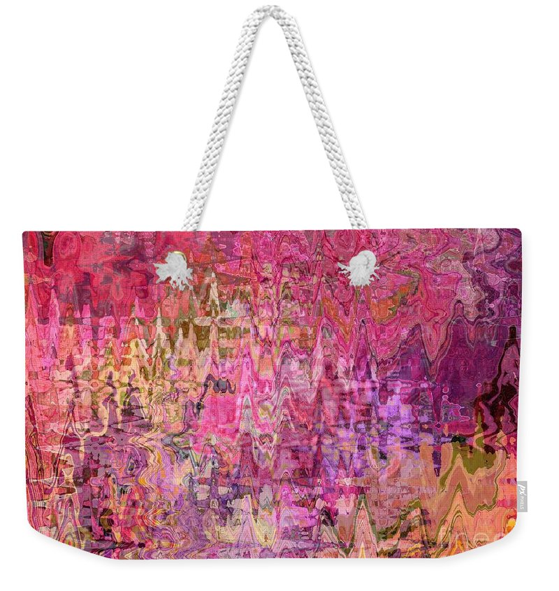 Colorful Abstract Weekender Tote Bag featuring the digital art Shades Of Summer by Carol Groenen