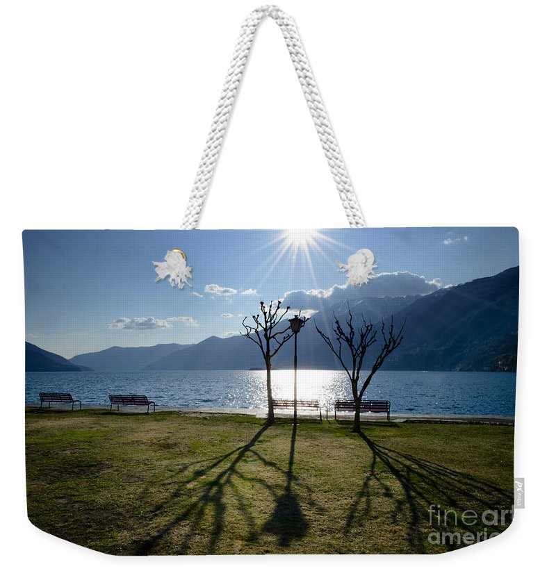Trees Weekender Tote Bag featuring the photograph Shadows by Mats Silvan
