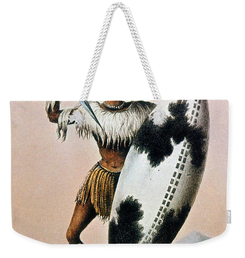 19th Century Weekender Tote Bag featuring the photograph Shaka Zulu (c1787-1828) by Granger