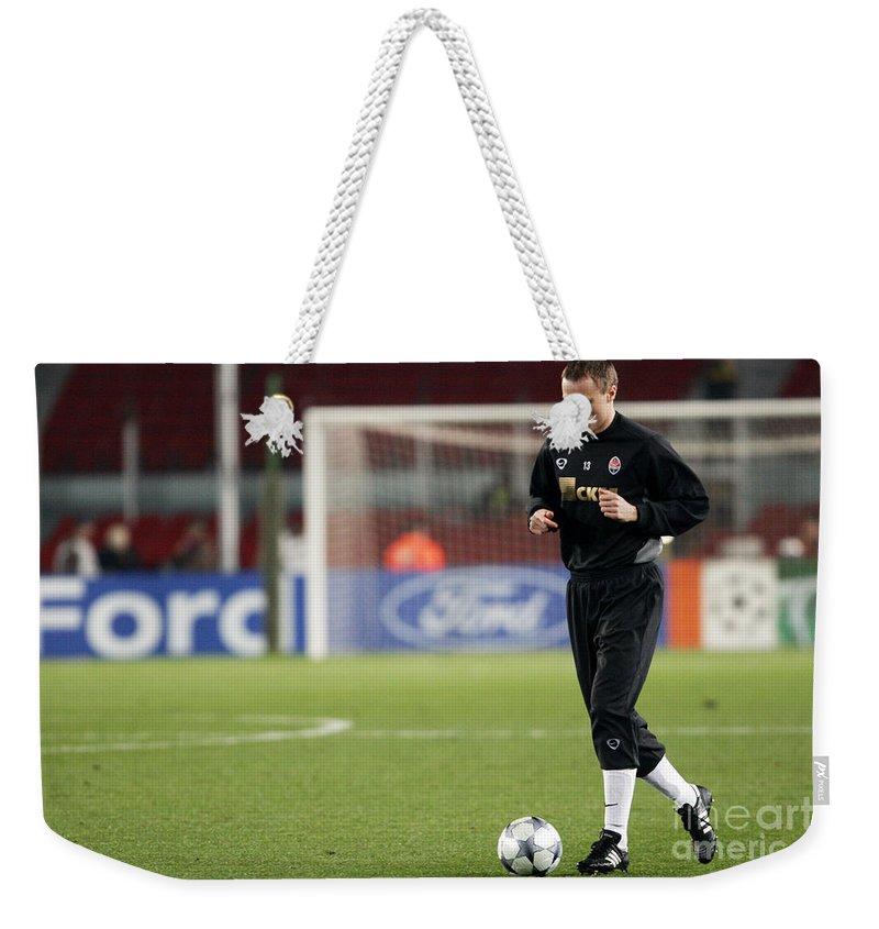 Shaktar Weekender Tote Bag featuring the photograph Shaktars 2nd Goalkeeper by Agusti Pardo Rossello