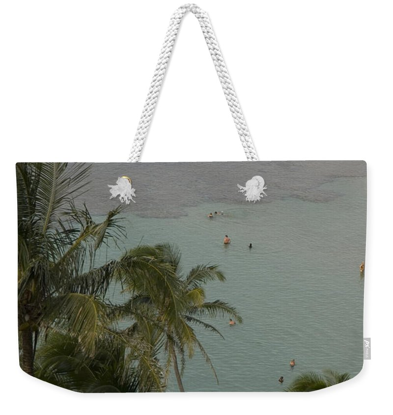 Palm Trees Weekender Tote Bag featuring the photograph Shallow Waters At The North Shore by Bill Hatcher