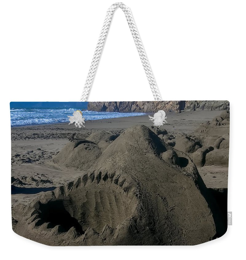 Shark Weekender Tote Bag featuring the photograph Shark Sculpture by Garry Gay