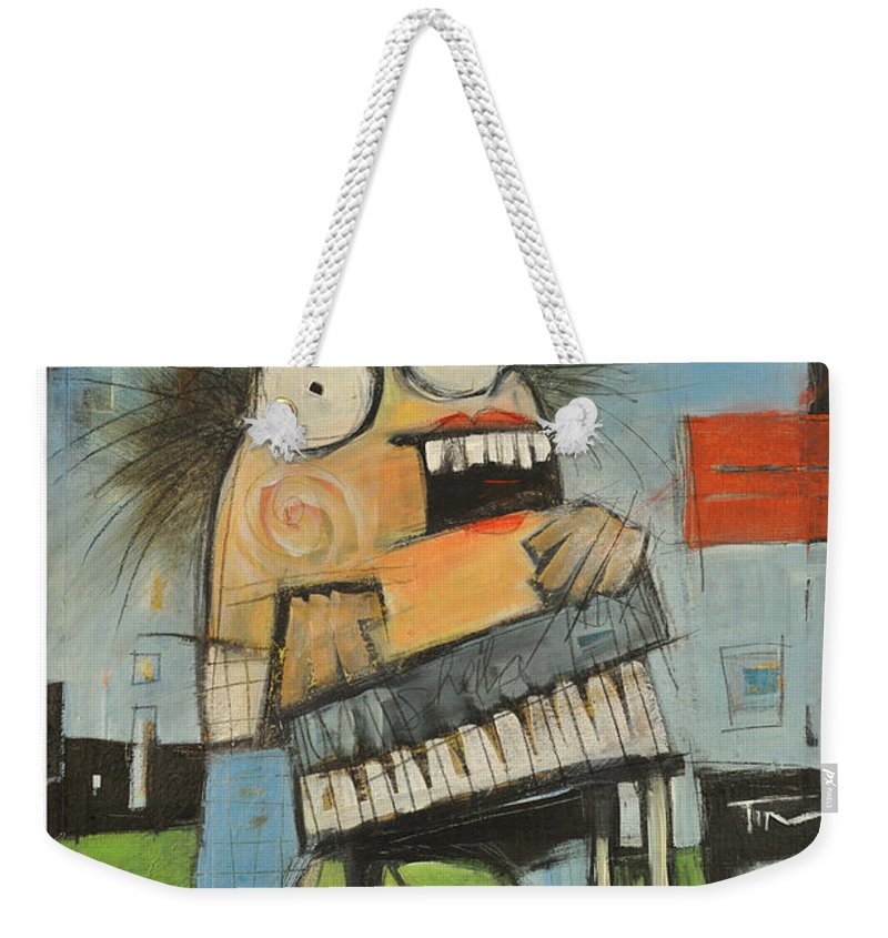 Polka Weekender Tote Bag featuring the painting Sheila Shiminski Polka Queen Poster by Tim Nyberg