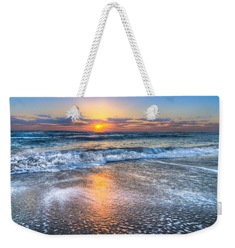 Clouds Weekender Tote Bag featuring the photograph Shimmer by Debra and Dave Vanderlaan