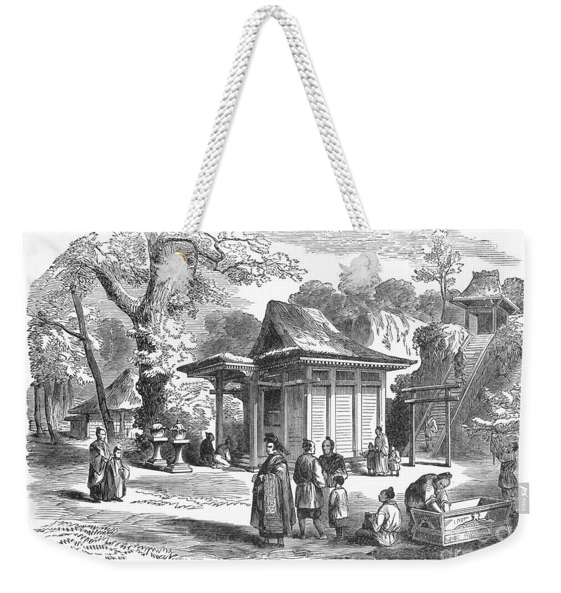 19th Century Weekender Tote Bag featuring the photograph Shinto Shrine, 19th Century by Granger