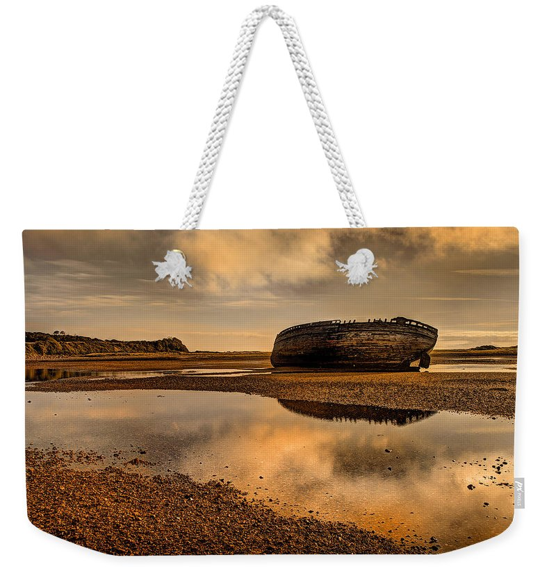 Shipwreck Weekender Tote Bag featuring the photograph Shipwrecked Boat by Mal Bray