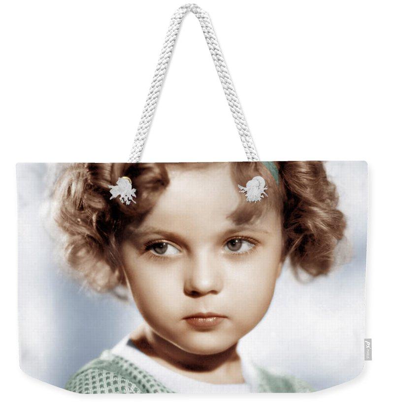 Shirley Temple Weekender Tote Bags