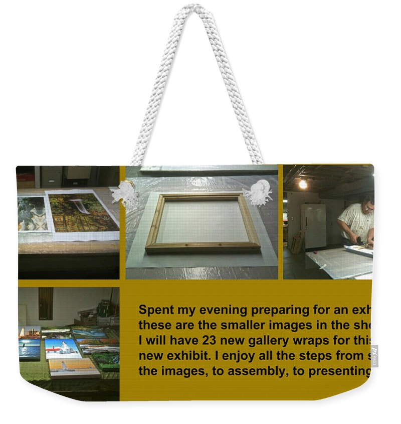 Show Weekender Tote Bag featuring the photograph Show Preparations by Michael Peychich