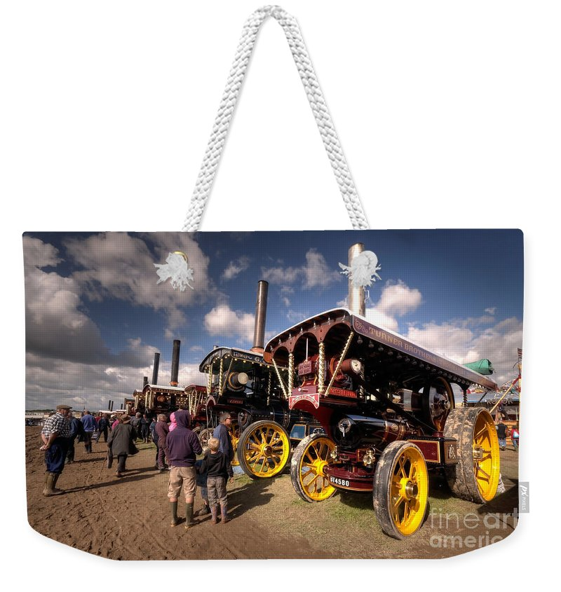 Showmans Weekender Tote Bag featuring the photograph Showmans Engines At Dorset by Rob Hawkins