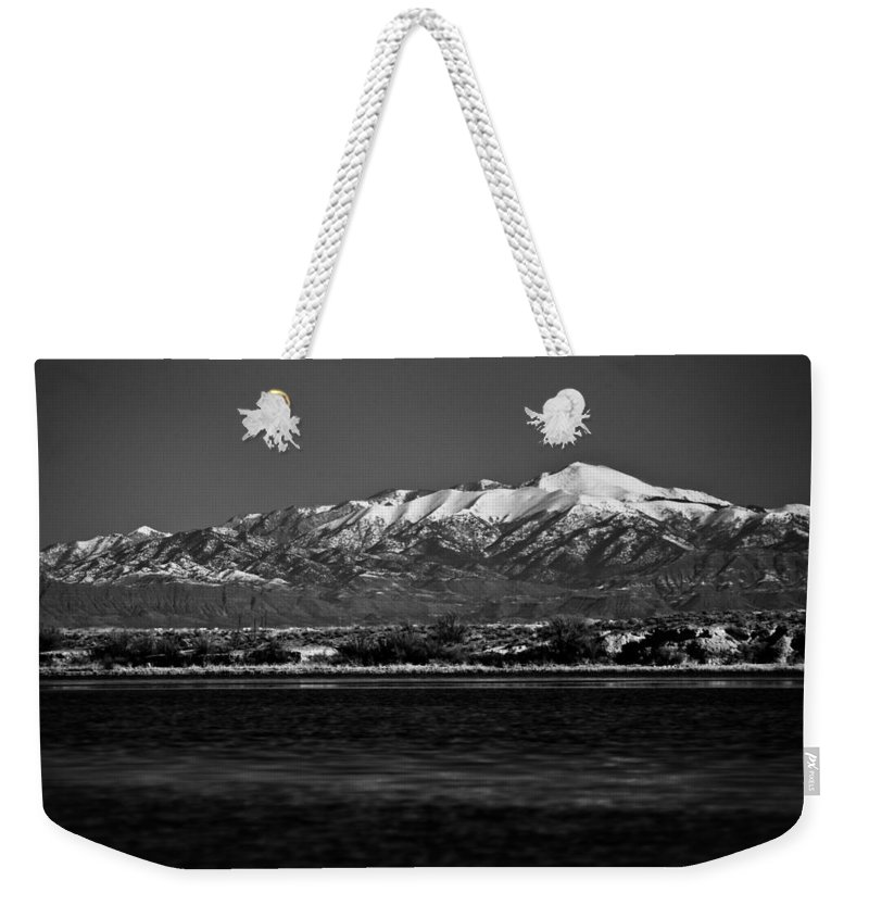 White Sands National Monument Weekender Tote Bag featuring the photograph Sierra Blanca by Ralf Kaiser