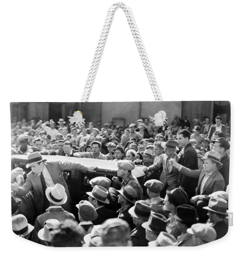 -crowds- Weekender Tote Bag featuring the photograph Silent Film: Crowds by Granger