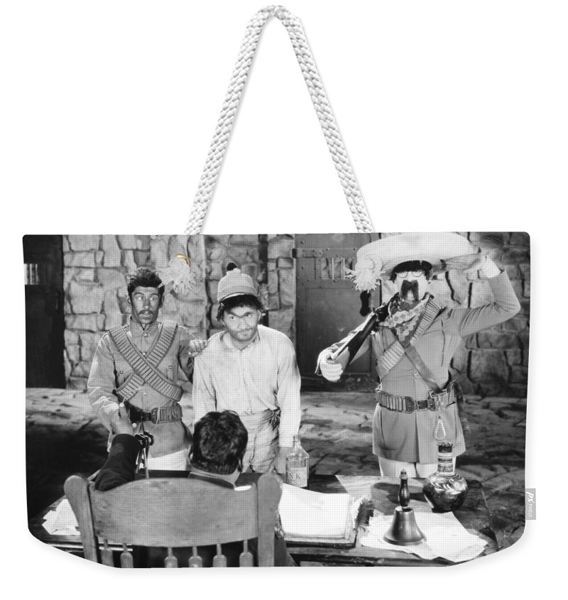 -crime: Prison & Punishment- Weekender Tote Bag featuring the photograph Silent Film: Punishment by Granger