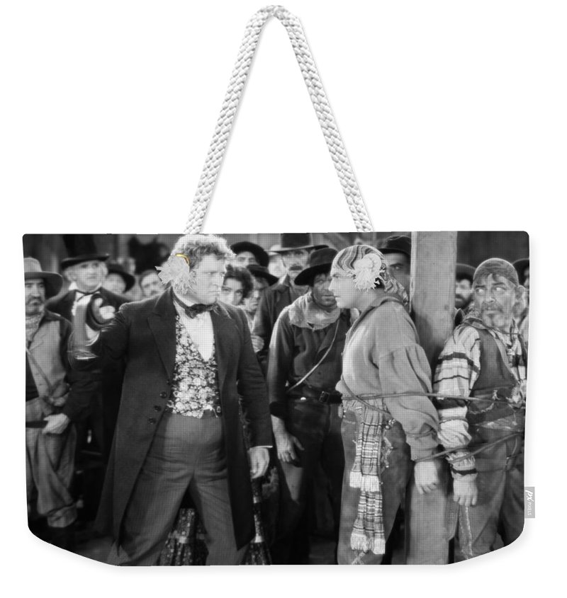 -pirates- Weekender Tote Bag featuring the photograph Silent Film Still: Pirates by Granger