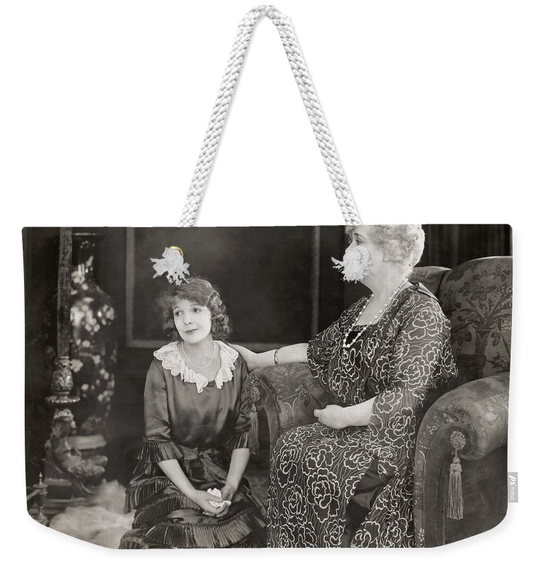 -women Two- Weekender Tote Bag featuring the photograph Silent Film Still: Women by Granger